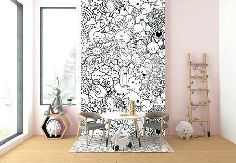modern kids decor decorating pumpkins for fall wallpaper home room doodles nursery wall