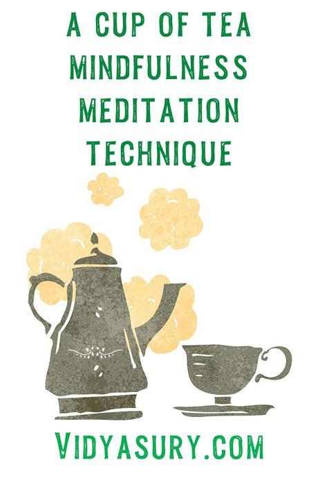 A cup of tea zen mindfulness meditation
