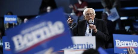 Democratic presidential candidate Sen. Bernie Sanders speaks during a campaign event in Spartanburg, S.C., on Feb. 27, 2020.