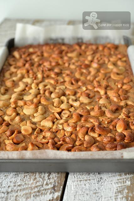easy honey cashew nut bar slice