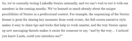 LinkedIn Stories: New Conversational Format for LinkedIn