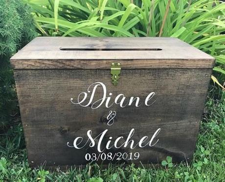 wedding card box ideas wooden card box