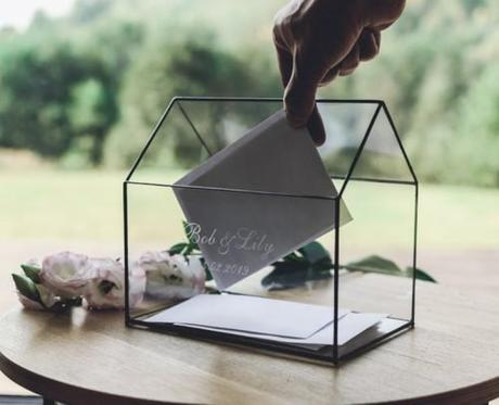 wedding card box ideas geometric box