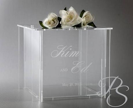 wedding card box ideas plexiglass card holder