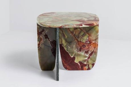 Trilithon, an onyx side table by Eindhoven-based studio OS & OOS