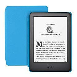 Image: All-new Kindle Kids Edition - Includes access to thousands of books - Blue Cover