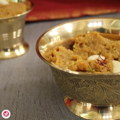 "A recipe your babies will love ""Pumpkin Halwa for Babies""! Halwa with essential nutrients for immunity & digestion, making them the perfect baby food."