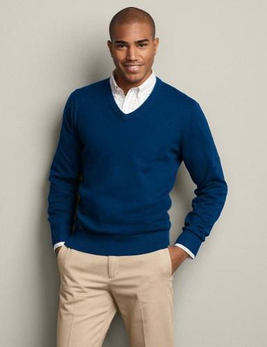 How to Layer a Sweater over a Shirt without Looking Lumpy?
