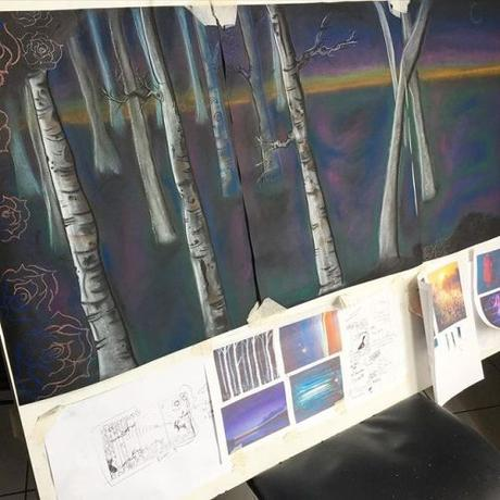 Work in progress. I'm currently working on this triptych and have a list of new idea I'm going to be working on in the coming weeks and months. Next week I'll be cleaning out my studio space and plan to participate in the Atelier Open Doors event,...
