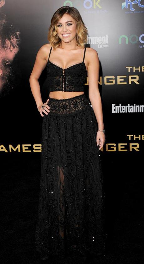 Wonderful Wednesday: Miley Cyrus in Emilio Pucci at the Hunger Games Premiere