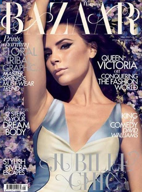 Victoria Beckham On the Cover of Harper Bazaar UK May 2012 Issue