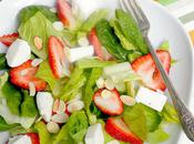 Strawberry, Spinach Mozzarella Salad with Balsamic Strawberry Vinaigrette