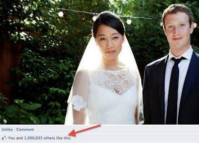 Mark Zuckerberg's Marriage get over 1 Million