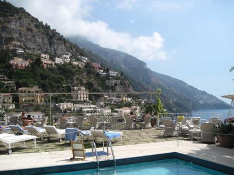The swimming pool at Hotel Poseidon, Positano, Italy