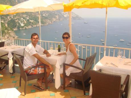 Dinner in Positano, Italy