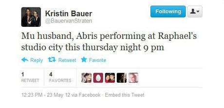 Abri van Straten to Perform at Raphael's in Studio City Thursday May 24th!