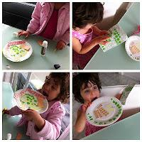 Making Paper Plate Pizzas