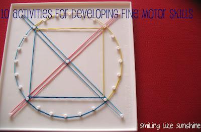 10 Activities for Developing your Preschooler's Fine Motor Skills