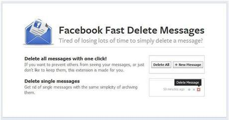 How to delete all your Facebook messages in 1 click?