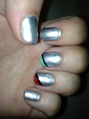 Nail of the day: Retro nails