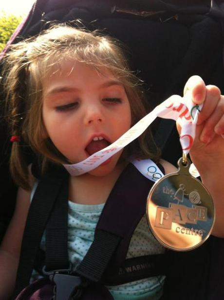 Isobel gets a medal