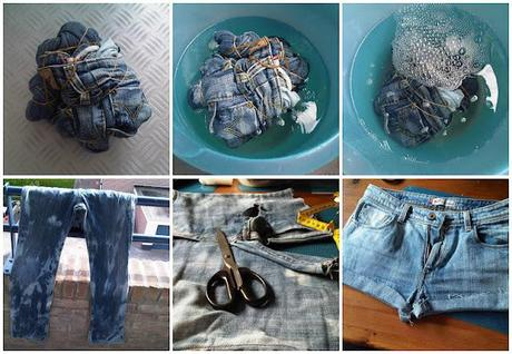 D.I.Y. Tutorial: Tie Dye Shorts