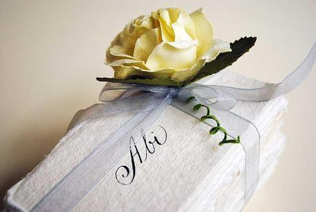 wedding place card calligraphy blog