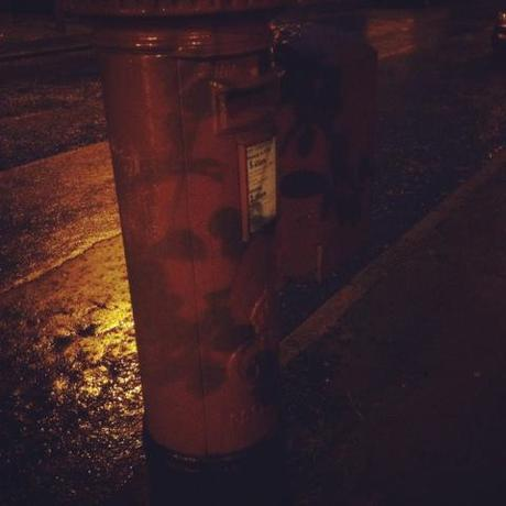 Letter box, night, instagram