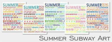 Free Printable Friday:  Summer Subway Art