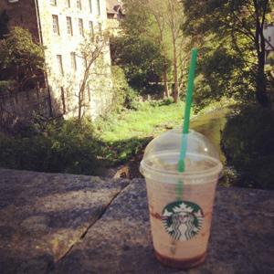 Dean Village, Starbucks, Frapaccino