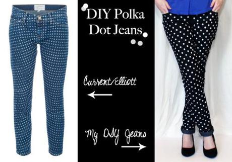 DIY Weekend: Polka Dot Jeans. You could do shorts, too! -...