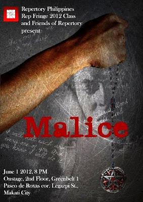 Rep Fringe 2012 presents Malice, June 1 at OnStage, Greenbelt 1