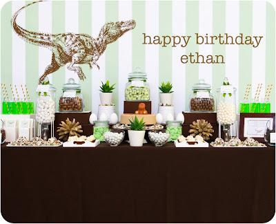 Dinomite Dinosaur Themed Party by Sweet Tables - By Chelle