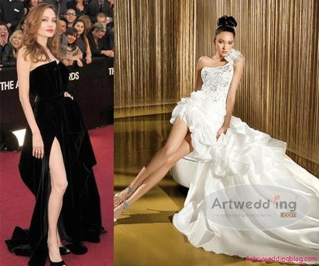 Angelina Jolie Wedding Gown
