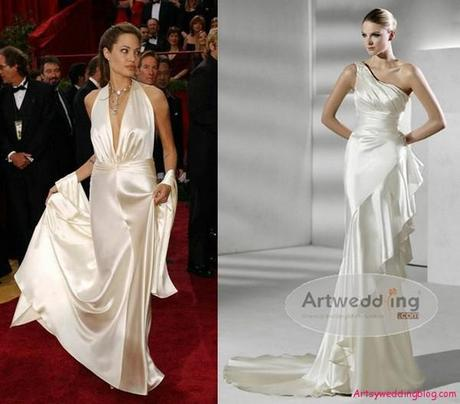 Angelina Jolie Bridal Gown
