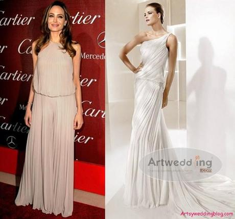Angelina Jolie Wedding Dress According to Trends