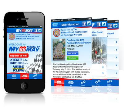 check Indy 500 events via iPhone and android application