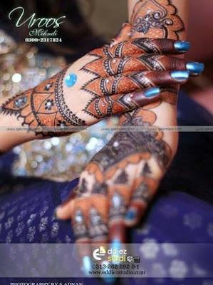 Latest Bridal Mehndi Designs By Uroos Mehndi