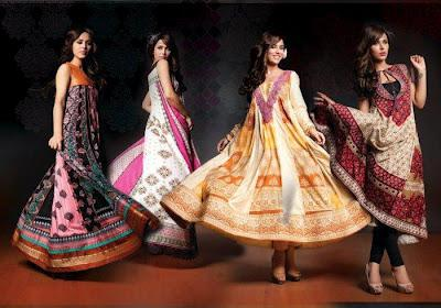 Latest Summer Lawn Dresses Catalogue 2012 By House of Ittehad