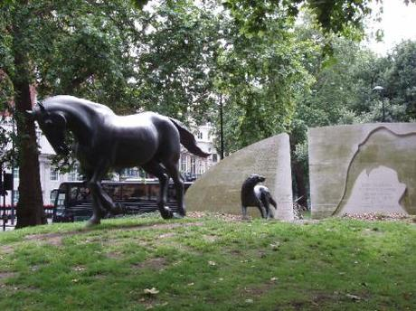 The Animals in War Memorial in London, England.