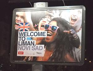 Welcome to Liman - billboard in English langua...
