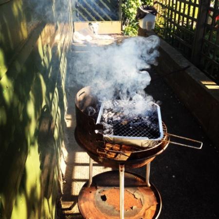 BBQ and smoke