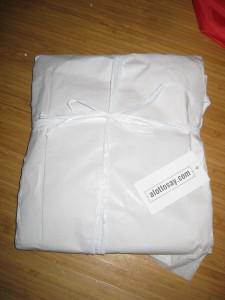 recycled bottle t-shirt package