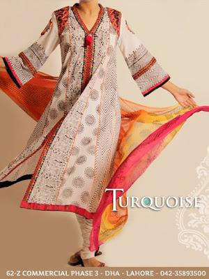 Turquoise Summer Lawn Collection 2012