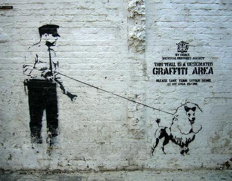 Banksy graffitti, Shoreditch, London