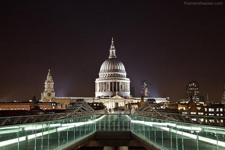 View of St Pauls from the Millenium Bridge, London