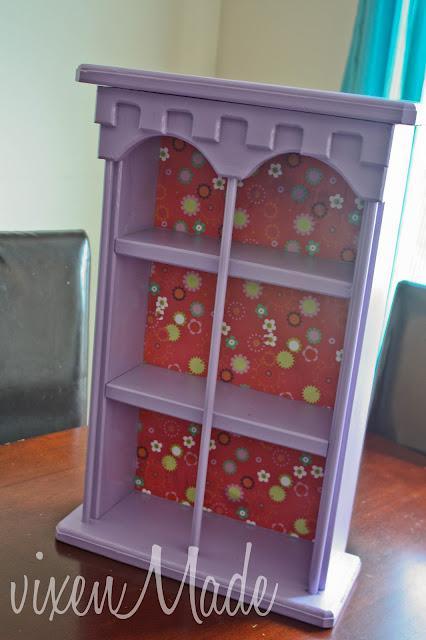 Craft Shelf Makeover