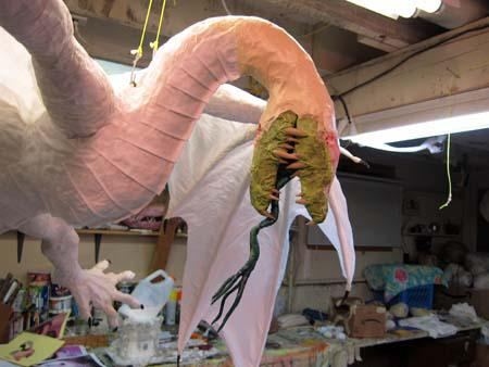 The Year of the Paper Mache Dragon- claws, breast plates, and Eddie