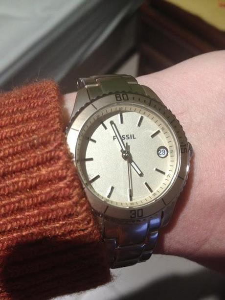 Fossil Stella Aluminum Gold Dial Watch