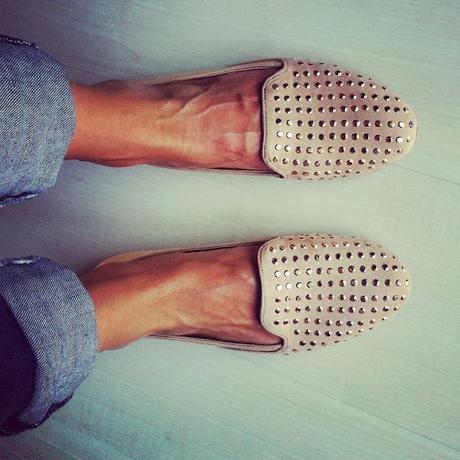 NEW IN STUDDED SLIPPERS